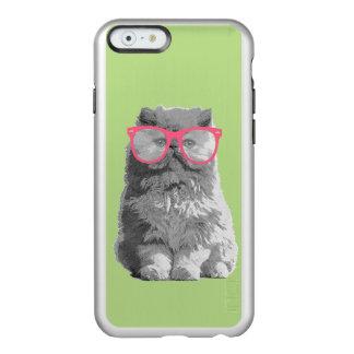 Gato persa com capa de telefone engraçada bonito capa incipio feather® shine para iPhone 6