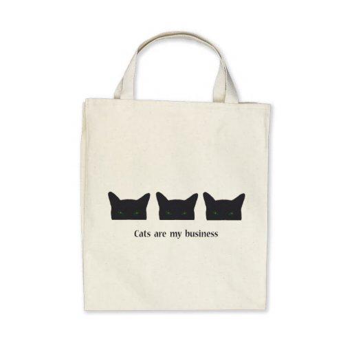 Gato preto bolsas para compras