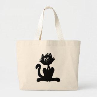Gato preto bolsa para compras