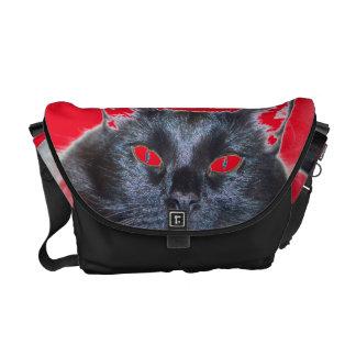 Gato preto bolsas mensageiro