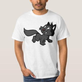 Gato preto camiseta