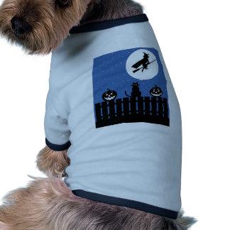 Gato preto do Dia das Bruxas Roupa Para Cães