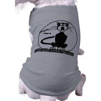 Gato preto do Dia das Bruxas do vintage Camisa Sem Mangas Para Cachorro
