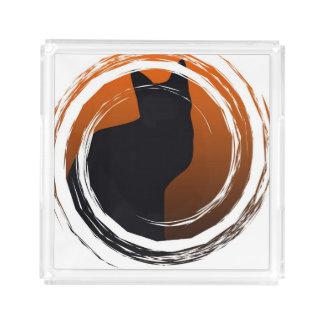 Gato preto do Dia das Bruxas no design espiral