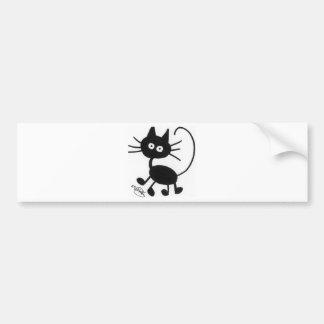 Gato preto dos desenhos animados adesivo para carro