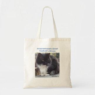 Gato preto e branco sacola tote budget