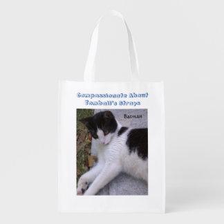 Gato preto e branco sacola ecológica