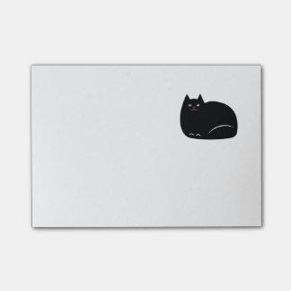 Gato preto gordo bloquinho de notas