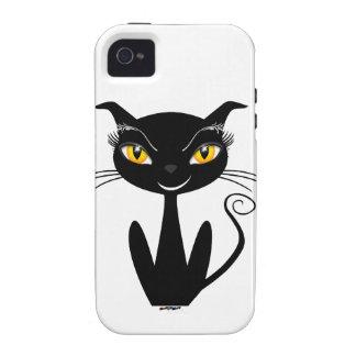 Gato preto lunático capinhas iPhone 4/4S
