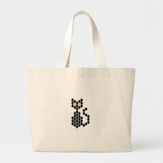 Gato preto modelado grânulo bolsas