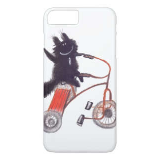 gato preto na bicicleta capa iPhone 7 plus