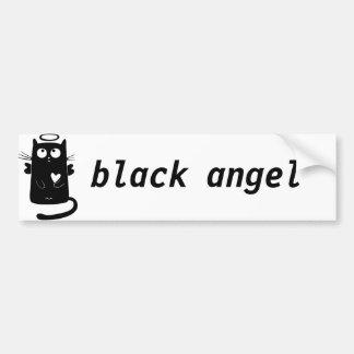 Gato preto personalizado do anjo bonito adesivo para carro