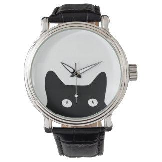 Gato preto relógio