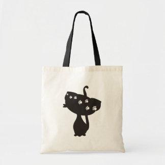 gato preto sacola tote budget