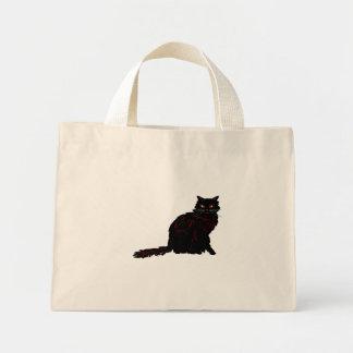 Gato preto sacola tote mini