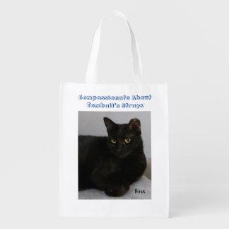 Gato preto sacolas ecológicas para supermercado
