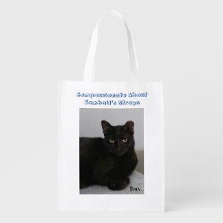 Gato preto sacolas reusáveis