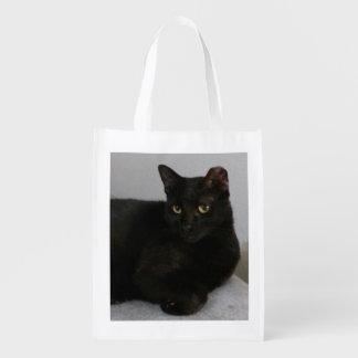 Gato preto sacolas ecológicas