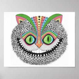 Gato psicadélico de Cheshire Poster
