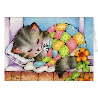 Gato que Napping - cartão bonito do gatinho