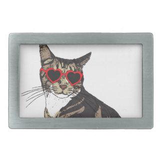 Gato que veste vidros do coração