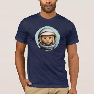 Gato retro do espaço camiseta
