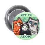 Gato salvado/abrigo botons