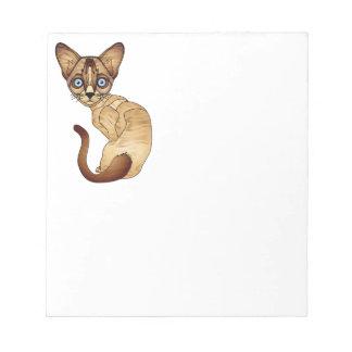 """Gato Siamese 5,5"""" x 6"""" bloco de notas - 40 páginas"""