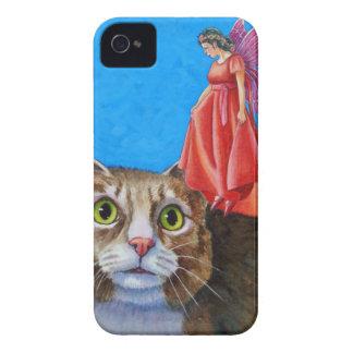 Gato surpreendido com fada vermelha capinhas iPhone 4