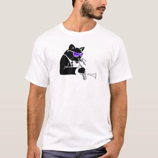 Gato tonto da trombeta camiseta