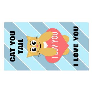 Gato você ata mini namorados cartão de visita