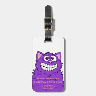 Gato w/quote de Cheshire, Tag da bagagem Etiqueta De Bagagem