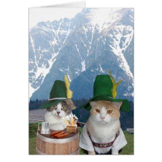 Gatos alemães engraçados customizáveis/gatinhos cartoes