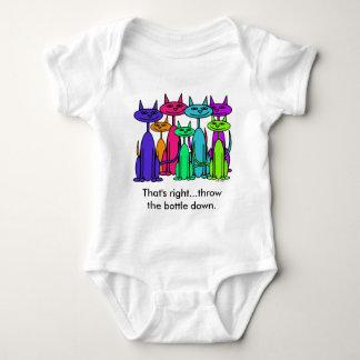 Gatos coloridos infantis t-shirt
