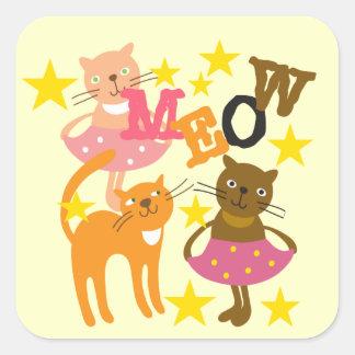 Gatos da dança adesivos