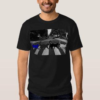 Gatos da estrada da abadia camisetas