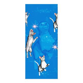 Gatos de jogo engraçados dos desenhos animados convite 10.16 x 23.49cm