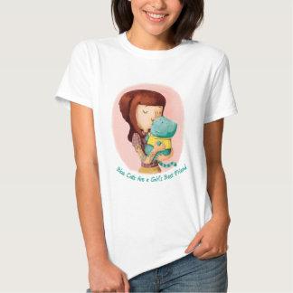Gatos do amor das meninas. Gatos azuis Camiseta