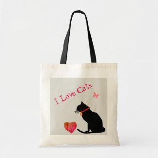 Gatos do amor de BudgetI vermelhos e o bolsa