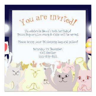 Gatos do convite de festas do descanso