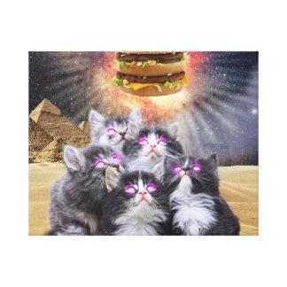 gatos do espaço que procuram o hamburguer