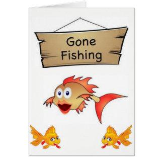 Gatos dos peixes do cartão