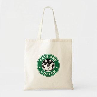Gatos e bolsa do café