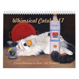 Gatos lunáticos - calendário 2017