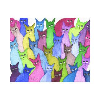 Gatos lunáticos de Minnesota Impressão Em Tela