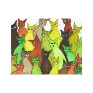 Gatos lunáticos de Vermont Impressão Em Tela