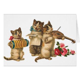 Gatos musicais cartão comemorativo