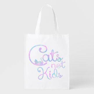 Gatos, não miúdos - saco reusável sacolas reusáveis