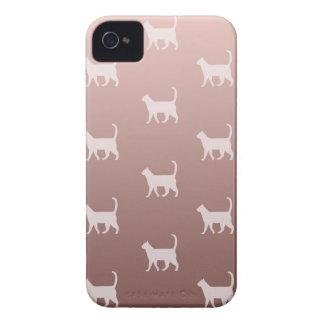 Gatos no ouro cor-de-rosa capa para iPhone