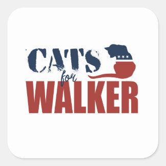 Gatos para o caminhante de Scott Adesivo Quadrado